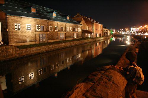 小樽運河を眺めるKen